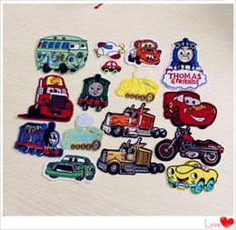 Wholesale Patches set Iron on Car Patches Embroidered Motorcycle Appliques Cloth Accessories custom made