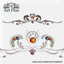 Wholesale ArtPlus Swarovski crystal bracelet tattoo stickers waterproof body painted flower arm tattoo personality