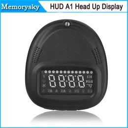 Sistema do veículo de exibição HUD A1 Universal Car GPS Head Up Velocímetro KMH / MPH com Excesso de velocidade Alarm venda quente 002983