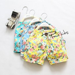 Wholesale Summer hot sale t T girl s floral hot shorts bloomers pants kids children girl beach shorts A4907