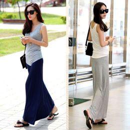 Wholesale Trendy Womens Stretchy Long Maxi Skirt Cotton Modal Pleated Full Length Skirt