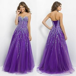 Wholesale 2015 Gorgeous Prom Dresses Long Crystal Corset and Tulle Ball Gown Quinceanera Dresses Cheap Backless Formal Vestidos De Fiesta Customized