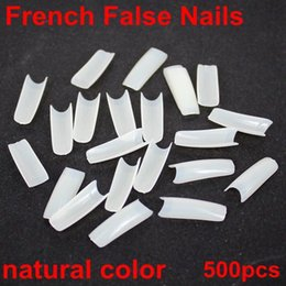 Wholesale High quality sizes french false nail natural colors acrylic Nail Art Design wrap Tips