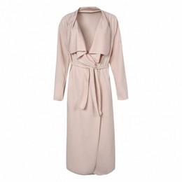 Wholesale 2016 Womens Fall Fashion Long Trench Coat for Women Long Sleeve Plus Size Trenchcoat Slim Fit Windbreaker Overcoat AR SJM