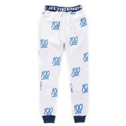 Wholesale w151212 Mikeal Novo corredores emoji calças branco preto para as mulheres menina calças Sweatpant desenhos animados roupa veste mulheres pant