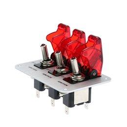 3 Рокеры кнопка включения Панель Flip-до зажигания DIY автомобилей Модификация Переключить со светодиодной индикацией 12V Аксессуар Спортивные Car K2877