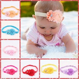 Wholesale 2015 Headbands For Girls Baby Girls Roses Pearls Hair Bands Vintage Flowers Hair Accessories Pretty Headbands Infant Headbands MC