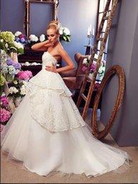 Wholesale 2015 Wedding Dresses Gorgeous Vintage Sweetheart Sash Applique Beaded Net Sweep Train Ball Gown