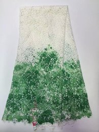 Wholesale High quality African guipure lace fabric for sewing nigeria lace cord lace fabric embroidered african guipure lace for dress