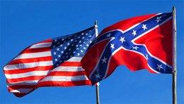 Livraison gratuite DHL Hot vente Two Sides Imprimé confédéré Drapeau National Flag Polyester 5 X 3FT Confederate Rebel Civil War Flag 100Pcs