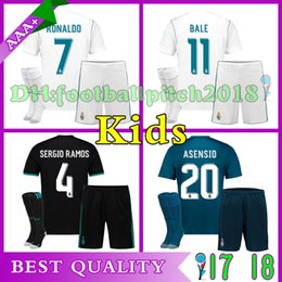 Discount bale youth soccer jerseys 2017 2018 Real Madrid kids home away  third soccer jersey kits bef9a173e677c