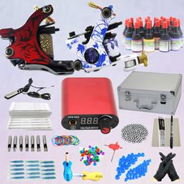 Wholesale Complete Starter Tattoo Kit Machines Guns Inks Power Supply Equipment Set K003