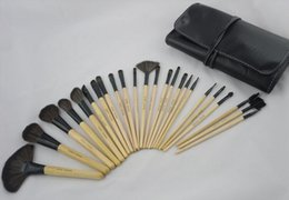 Wholesale 5 Set pinnk red wood Professional Persian Hair Kit makeup brushes Set With Soft Bag Case Beauty Eye Shadow