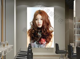 Wholesale Hairstyle image processing hot dyed hair posters photo HD salon barber shop gradient star hairstyle