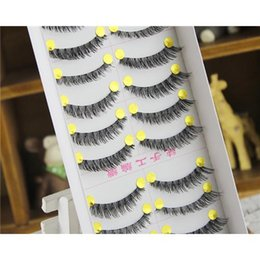 Wholesale Handmade False Eyelashes Winged pairs in Thick Ending Long False Eyelashes Fake Eye Lashes Eyelash Black Terrier Winged Lashes