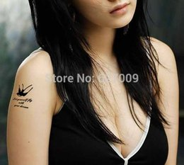 Wholesale Waterproof tattoo sticker Feather bird cage swallow T Swallow Bird temporary makeup body paint sticker