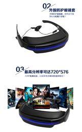 Al por mayor - 2014 vidrios video de 50 pulgadas HD 720P portátil pantalla virtual 4GB Mundial teatro móvil más ligero video Glass Eyewear portable Virtua