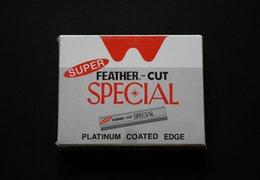 100 pedaços / lote, Atacado Super penas cortadas lâminas de barbear / Sharp lâmina para barbear com lâminas removíveis