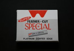 Wholesale 100 pieces Super feather cut Razor Blades Sharp blade for hair razor with removable blades