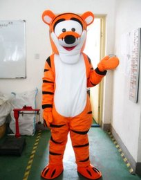 Wholesale Classical style Lovely Tigger and Winnie the pooh Mascot Costume Adult Size Cartoon Mascot Animal Apparel