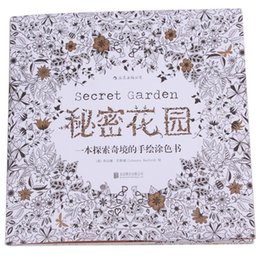 Wholesale An Treasure Hunt and Coloring Book For Children Adult Relieve Stress Kill Time Graffiti Painting Drawing Secret Garden DP874013