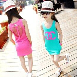 Wholesale 2015 girl Summer vest Children s Tank Tops colors baby s vest t shirts pure color girls vest kids t shirt B086