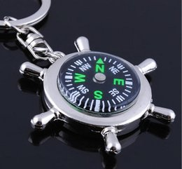 Wholesale Creative nautical compass keychain rudder versatile utility man Commodity