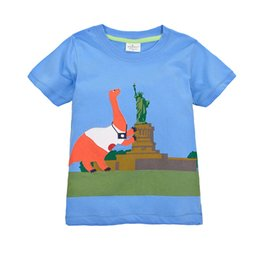 Wholesale kids Tops Clothing Cotton Kids boys girls Baby kid Clothes Vest Cartoon Childrens Outfits Short Sleeve