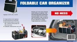 Nuevo coche Accesorios para el coche del tronco Organizador de almacenamiento de coches Recibir Bolsa portátil envío libre plegable del cargador del coche ordenado del bolso DHL 60102