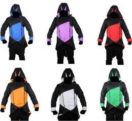 Wholesale 2015 assassins creed III conner kenway hoodie coat cosplay costume coat jacket uniform costumes for men