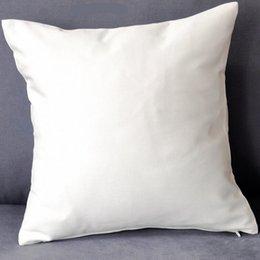 (100pcs / lot) couverture de coussin de sergé de coton pur de couleur blanche de plaine avec le zip caché pour la couverture faite sur commande d'oreiller de coton d'impression de custom / DIY n'importe quelle couleur