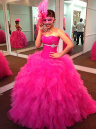 Wholesale 2016 New Sweetheart Ball Gown Quinceanera Dresses Custom Made Floor length Formal Debutante Dresses Sweet Masquerade Prom Party Gowns