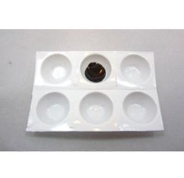 Wholesale Cups Disposable Perforated Plastic Eyelash Extension Glue Holder Wells Adhesive Tray Eyelashes
