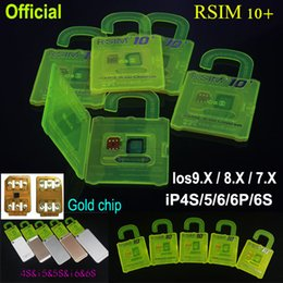 R-SIM 10+ R SIM 10 RSIM 10+ Rsim10 + Unlock Card pour iPhone 6s 6 5S 5 4S ios utilisation directe s 9 9.x 3G 4G CDMA Sprint UA Softbank no Rpatch