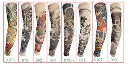 Wholesale Nylon Elastic Fake Tattoo Sleeves Designs Cool Anti UV Arm Tattoo Wears Fishing Sleeves DHL for free
