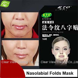 Wholesale 10pairs Box Nasolabial Folds Anti wrinkle Stickers Anti aging Face Mask Forehead Lifting Face Mask Moisturizing whitening Face Care