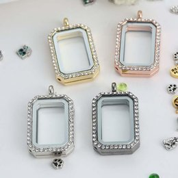 2017 jewelry pendant frame square square floating locket hot sale diy jewelry transparent glass frames floating