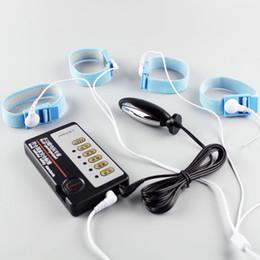 Wholesale Electro Shock Sex Play Kit Adult Toys for Men E Stimulation Penis Anal Prostate Stimulator Massage Erotic Shocking Fetish