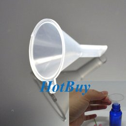 Wholesale Plastic Perfume Diffuser Atomizers Vial Bottle Liquid Filling Small Clear Funnel