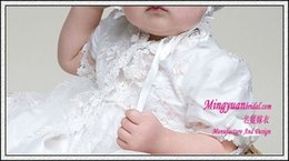 Wholesale First Communion Dress White Ivory Color Baptism Lace Appliqued Cute Christening Gowns
