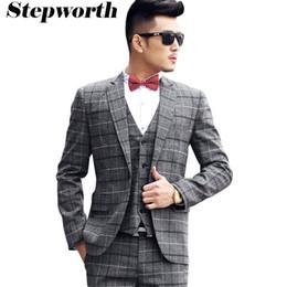 Men S Grey Plaid Suit Suppliers | Best Men S Grey Plaid Suit