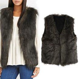 Wholesale New Arrivals Ladies Womens Waistcoat Gilet Jacket Coat Outerwear Vest Slim Peacock Faux Fur Winter S XL DX267