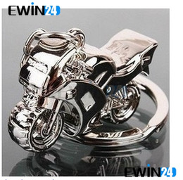 Wholesale Hot D Model Motorcycle Key Ring Chain Motor Silver Keychain New Fashion Cute Gift