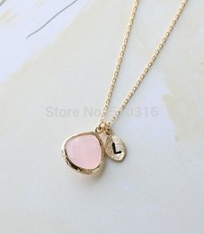 online shopping 1pcs gold initial crystal necklace letter l necklace bridesmaid gifts for women