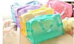 Wholesale Travel must transparent waterproof cosmetic bag wash bag wash bath toiletries pouch large capacity colors