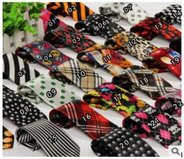 Wholesale Fashion Children s Polyester Neck Ties Cartoon Tartan silk ties Satin Neckties Casual ties for kids students designs Sufficient stock