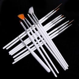 1000 establece 15 PC / Nail Art Design Set cepillo de acrílico del gel UV Set Pintura Dibuje que puntea la pluma Mano blanca por el envío libre de DHL