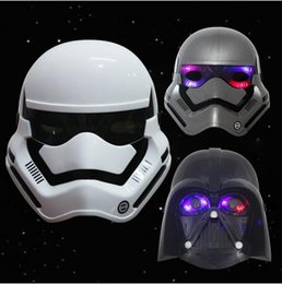 Star wars LED Lighting Masks Darth Vader Empire Storm Clone Black Knight White Soldiers Party Mask Supply Boys Gifts from wholesale star wars party supplies manufacturers