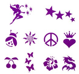 Wholesale 3 Colors Shimmer Glitter Tattoo Stencils Set Waterproof Body Painting Art Glitter Temporay Tattoo Kit