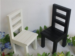 discount dollhouse chair wholesale free shipping 6pcs lot 7 inches black white back rest affordable dollhouse furniture